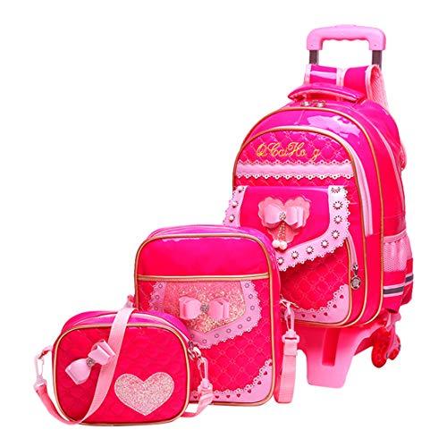 5b2617b109 Zaini Scuola Elementare - Carina Borsa da scuola Bambini Zaino Set da 3  pezzi per ragazze