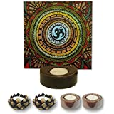 TYYC New Year Gifts Items All Powerful Om Tealight Candle Holders Set Of 5 | New Year Tea Lights T-lites Candles Diyas Lights For Home Decoration Items Home Decor | New Year Corporate Gifts For Office, Employees, Clients, Staff