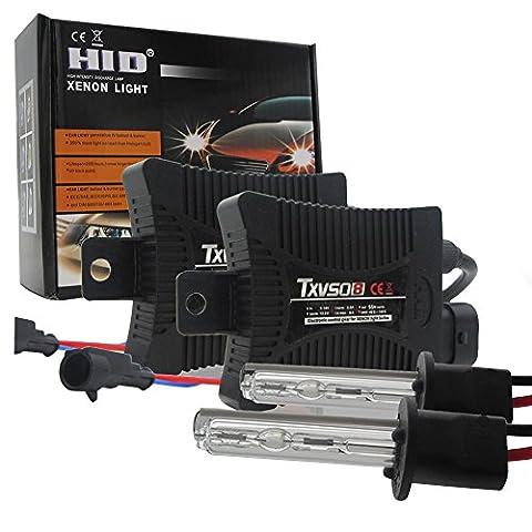 HID Scheinwerfer-Kit 55W Xenon Leuchtmittel Lampe mit Slim vorschaltgeräten Set alle Farben 3000–12000K Brillanten Licht weiß blau H1H3H4H7H8H9H11H1390049005900690075202880, blau 55.00 wattsW, 13.20 voltsV