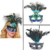 AOLVO - Máscara Veneciana de Lujo para Disfraz de Pavo Real, máscara Decorativa de Gato para Mujeres, niñas, Bailes, Fiestas, Bailes, Halloween, graduación, Carnaval, Bodas