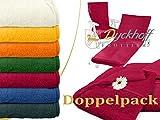 Doppelpack zum Sparpreis - Schonbezüge für Gartenstuhl & Gartenliege aus dem Hause Dyckhoff - erhältlich in 6 sommerlichen Farben - mit Kapuze für besseren Halt, Gartenliege (70 x 200 cm), bordeaux