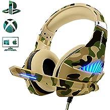 Gaming Headset für PS4 Xbox One, Beexcellent Deep Bass Gaming Kopfhörer mit Mikrofon Stereo Sound Noise Isolation und Lautstärkeregler Over-Ear Headset für PC Laptop Mac Smartphone (Yellow)