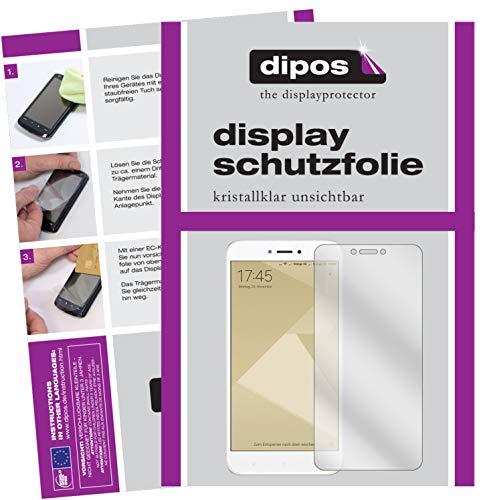 dipos I 2X Schutzfolie klar passend für Xiaomi Redmi 4X Folie Bildschirmschutzfolie
