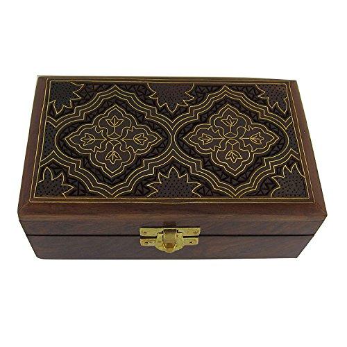 chte Indische Holz Schmuck-Box - Schmuck-Box für Mädchen und Damen -Schmuck-Box Frauen ()