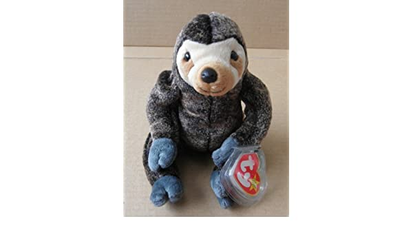 08754b44f2b TY Beanie Babies Slowpoke the Sloth Stuffed Animal Plush Toy - 6 Inches Tall  - Dark Light Brown Body by Deep Deep Discounts On Natural Stones   Amazon.co.uk  ...