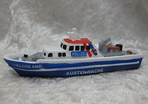 9. Küstenwache (Schiffsmodell MS Küstenwache Helgoland Büsum Polizeiboot Miniatur Boot Schiff ca. 9cm)