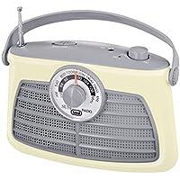 Trevi RA763V SUSI Retro AM/FM Portable Radio with Headphone Socket (Ivory)