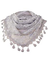 24e1e469625 MRULIC Echarpes foulards femme dentelle gland rose floral foulard creux  châle dame wraps foulards