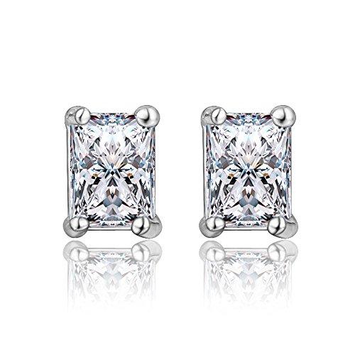 """""""amberma Design"""" Basic Jewellery Collection Silber Ohrringe Stud, Damen Schmuck, Geburtstag Geschenke für Mädchen FRIENDS Bridesmaid"""