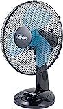 Ardes AR5EA30 EASY 30 Ventilatore da Tavolo Pala 30 Cm 3 Livelli di Velocità, Total Black
