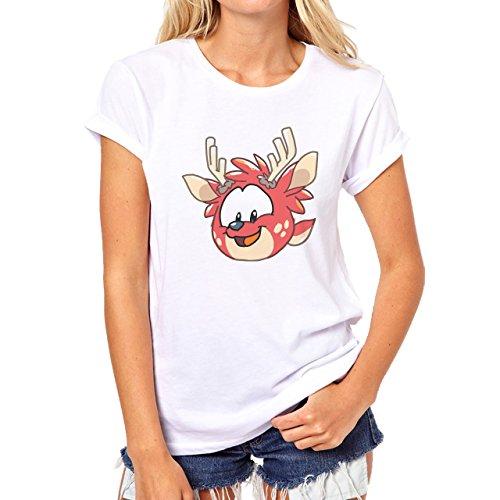 Deer Animal Wood Creature Horns Angry Birds Damen T-Shirt Weiß