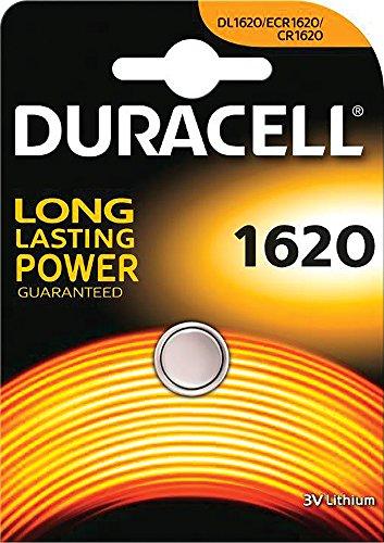 Duracell - Pilas botón CR1620 Litio, 3 V / 1 unidad