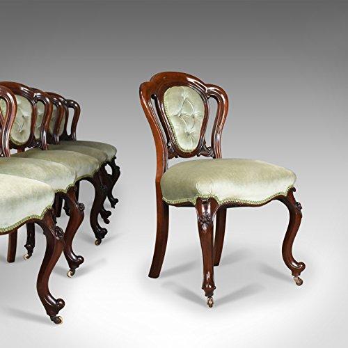 London Kunstdruck von-Set, Esstisch und Stühle, English, Regency-Stil Mahagoni, ca. 1830 -