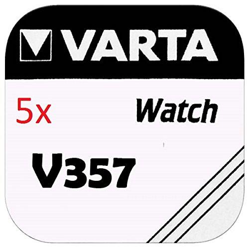 VARTA KNOPFZELLEN 357 SR44W (5 Stück, - 357-batterien