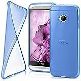 moex HTC One M7 | Hülle Silikon Transparent Blau Clear Back-Cover TPU Schutzhülle Dünn Handyhülle für HTC One M7 Case Ultra-Slim Silikonhülle Rückseite