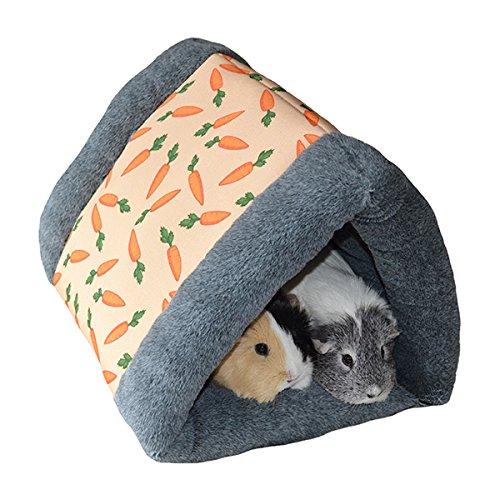 Rosewood 19616 Snuggles Snuggle 'n' Sleep Tunnel Mit Karotten-Print Für Kaninchen, Meerschweinchen, Frettchen Und Ratten -