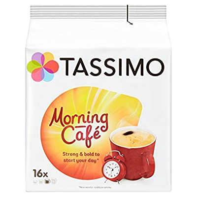 Tassimo Morning Cafe Coffee Pods (Pack of 5, 80 pods in total, 80 servings) from Mondelez
