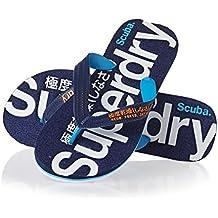 Superdry - Sandalias de Caucho para hombre azul Colum Blue/French Navy