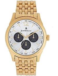 Reloj hombre JEAN Bellecour y pulsera de cuarzo reloj plateado 42 mm dorado en alloy jb1062