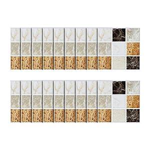 18pcs - tapeten Ziegel Stein rustikale Wirkung Wand Home Decor Selbstklebende Wasserdichte Schwarze marmor mosaik wandkunst küche Fliesen Aufkleber wandtattoos (A)