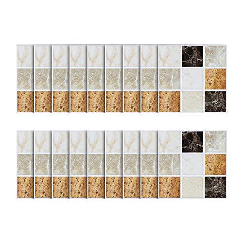el Stein rustikale Wirkung Wand Home Decor Selbstklebende Wasserdichte Schwarze marmor mosaik wandkunst küche Fliesen Aufkleber wandtattoos (A) ()
