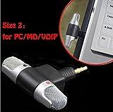 WensLTD professionale mini registratore stereo digitale vocale con microfono portatile per smartphone PC, PHONE, standard