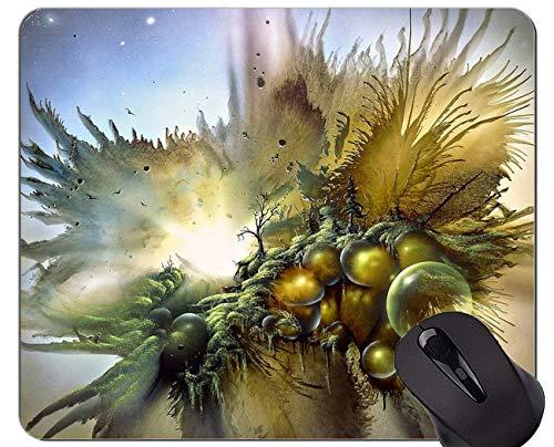 Mausunterlage personalisiert, Gewehr-Tee-Party-Fantasie-rutschfeste Gummibasis Mousepad