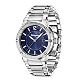 Salvatore Ferragamo F-80 Mens Quartz Watch with Blue Dial and Stainless Steel Bracelet FIF030015