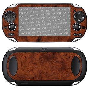 atFoliX Skin kompatibel mit Sony PlayStation Vita, Designfolie Sticker (FX-Wood-Root), Holz-Struktur / Holz-Folie