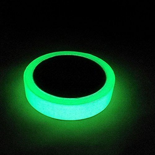 Gebildet® 5m x 2cm Nastro Luminoso, Nastro Fluorescente Adesivo, Nastro Bagliore Nel Buio, Verde Fluorescente Luminoso Nastro, Luminous Tape Glow in the Dark: Impermeabile Rimovibile Sicuro