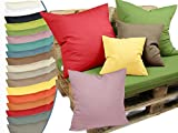 """Kissenhülle """"Via"""" von """"deko trends"""" - moderne Wohndekoration in dezentem Design erhältlich in 18 modernen Farben und 4 verschiedenen Größen - passend für Schaumstoffauflagen (120 x 80 x 8 cm) und Standardkissenfüllungen, 38 x 38 cm, flieder"""