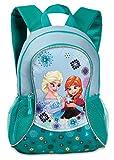 Disney Frozen - Die Eiskönigin Elsa Anna Olaf Rucksack Kinderrucksack (501) mit Hauptfach und Nebenfach Getränkenetz, 35 x 27 x 15 cm, hellblau