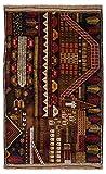 Morgenland Afghan BELUTSCH Teppich 140 x 85 cm Handgeknüpft Gebetsmuster Orient