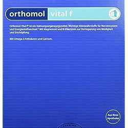 Orthomol vital f 30er Granulat, Tablette & Kapseln, Grapefruit - Vitamin Komplex für Frauen bei Müdigkeit & Erschöpfung