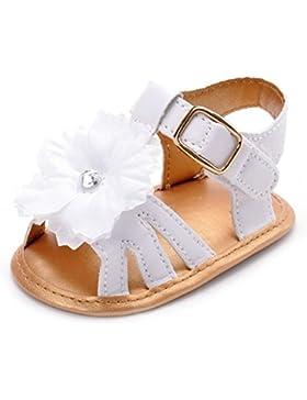 ESTAMICO Baby Mädchen Sommer Weiße Blume Sandalen
