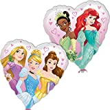 "Amscan International 8.703.820,5 cm Disney Princess Herz ""Standard Folie Ballon"