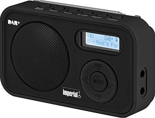 Imperial DABMAN 12 tragbares Digitalradio (DAB+/UKW, LCD Display, Akku, 3x AAA Batteriebetrieb) schwarz