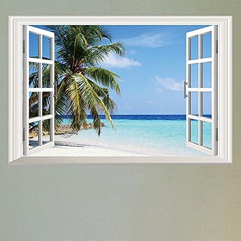 3D Marine Imitation Fenster Wand Aufkleber Dekoration Tapetensticker