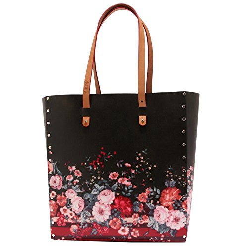 0612T borsa donna SIDE+ TOTEBAG BOUQUET ecofriendly hand bag woman Multicolore