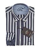 Paul & Shark Herren Freizeit-Hemd Blau Blu A Righe, Blau 38