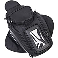 Bolsas para depósito, CONMING Motorcycle Magnético Aceite Bolsa de Combustible Knight Pack Paquete Impermeable Oxford tela GPS Travel Riding Bag Negro Universal