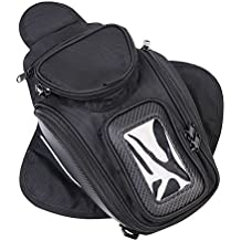 CONMING Motorcycle Magnético Aceite Bolsa de Combustible Knight Pack Paquete Impermeable Oxford tela GPS Travel Riding Bag Negro Universal