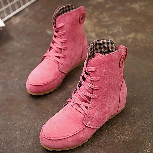 83c0c7e2 Kukul Botines para Mujer 2017 Zapatos planos con Cordones - Ariveca.com