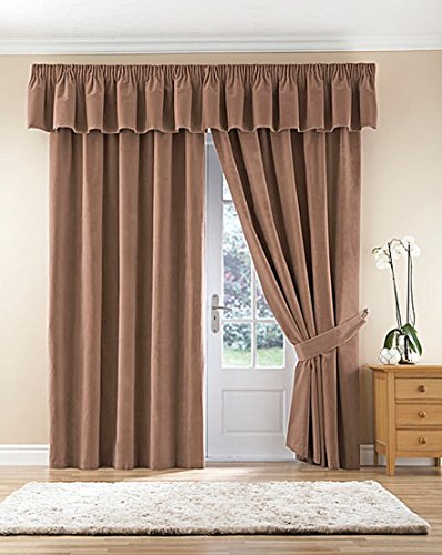 Thermal Velour Velvet Curtains Finished In Camel 90