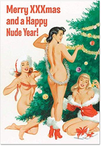 1905'Happy Nude Jahr'-Funny Neues Jahr Grußkarte mit 12,7x 17,8cm Umschlag von Nobleworks