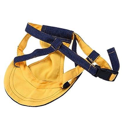 UEETEK Pet Dog Puppy Baseball Cap Visor Hat Sunhat Adjustable Chin Strap Sunbonnet 9
