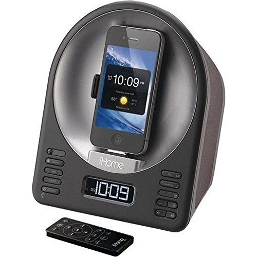 SDI iHome iA63 Rotierende Dockingstation für Apple iPhone/iPod schwarz - Ihome-radiowecker