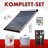 Komplettset Solaranlage 18,66 m² Röhrenkollektor