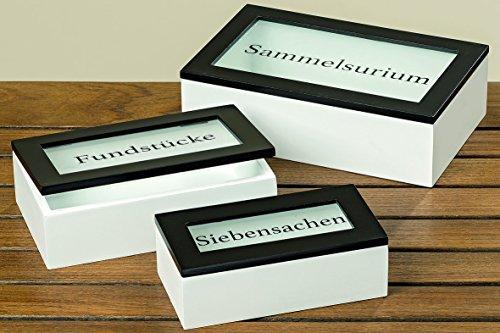 Kaffee Dekorative Aufbewahrungsbox (3 x Box Cabin mit Deckel Holzbox Aufbewahrungsbox Holzkiste Holzdose Kiste)