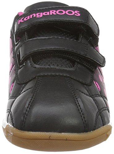 KangaROOS K-Dot, Baskets Basses Fille Noir - Schwarz (black/magenta 565)